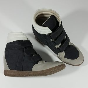 JustFab Velcro Faux Suede Sneaker Shoes